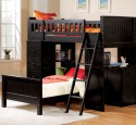 Loft Bed With Desk Black