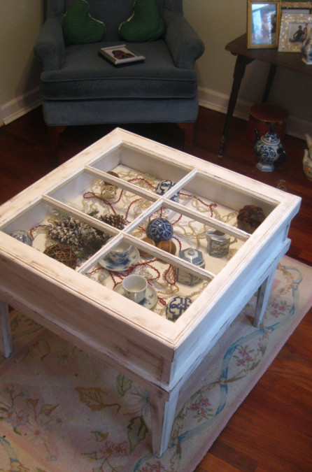 Window Shadow Box Table
