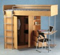 Loft Bed With Desk And Closet