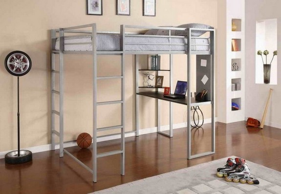 Extra Long Loft Bed With Desk