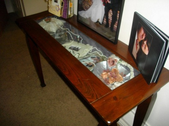 Shadow Box Sofa Table
