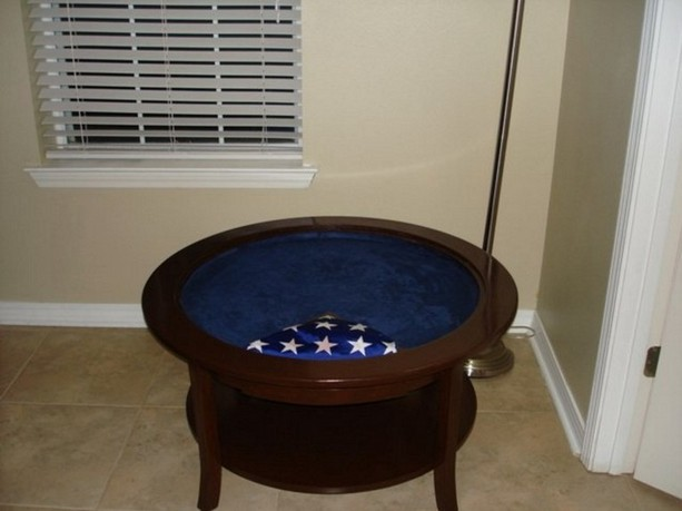Round Shadow Box Table