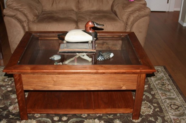 Coffee Table With Shadow Box Top