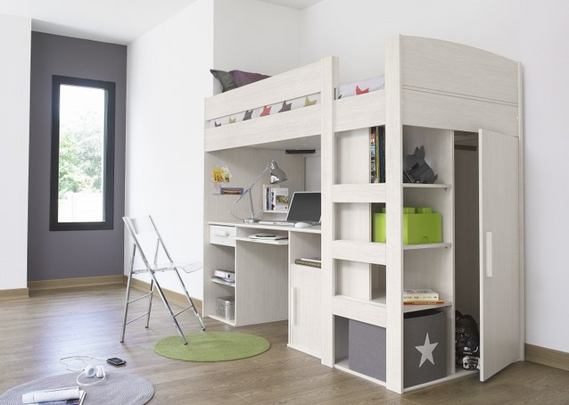 Loft Bed With Desk Modern