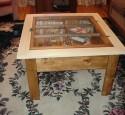 Glass Top Shadow Box Table