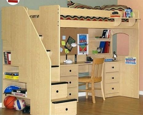 Loft Bed With Desk Diy